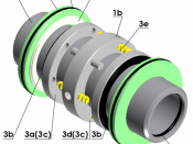 3D schematic of double mechanical seal