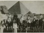 Nurses and physicians from the American Zionist Medical Unit on camels in Egypt en route to Palestine in July 1918