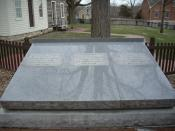 Grave of , , and at the Joseph Smith Homesite in .