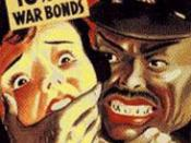 English: This illustration is of a poster drawn by an anonymous artist, date unknown, during World War II. It illustrates anti-Japanese propaganda created during World War II in America, perpetuating the stereotype of the dangerous sexually predatory Asia