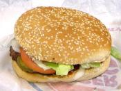 The Whopper sandwich, Burger King's signature product.