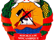 English: Mozambican coat of arms Español: Escudo de Armas de Mozambique