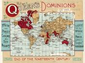 World map of the Queen's Dominions at the end of the nineteenth century