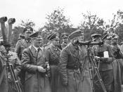 Rommel with Hitler and Bormann in Poland (September 1939)