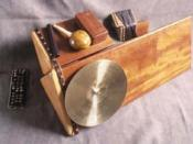 English: The trimba, Moondog percussion instrument