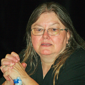 English: Dorothy Allison at the 2008 Brooklyn Book Festival in New York City.