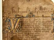English: Opening folio of the Hengwrt manuscript Deutsch: Das Hengwrt-Manuskript der Canterbury Tales