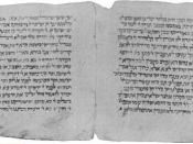A page from a medieval Jerusalem Talmud manuscript. Found in the Cairo Genizah. From the 1901-1906 Jewish Encyclopedia, now in the public domain