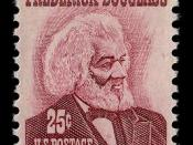 US postage stamp of 1973, part of the Prominent Americans series, depicting Frederick Douglass