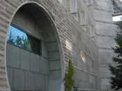 English: Facade of Ives Hall, Cornell University