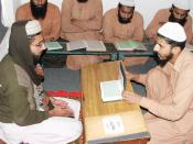 English: Convicted prisoners receiving Quranic education in Central Jail Faisalabad, Pakistan in 2010