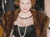 English: In Chicago, 1983. Eppie Lederer, known as Ann Landers (1918-2002).