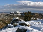 Snow at White Rock Overlook - New Mexico