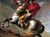 Napoleon Crossing the Alps (David). In 1800 Bonaparte took the French Army across the Alps, eventually defeating the Austrians at Marengo