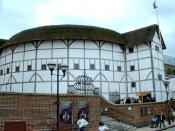 A reconstruction of the Globe Theatre in London, originally built in 1599 and used by Shakespeare