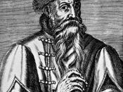 Johannes Gutenberg (139*-1468); Kupferstich; 16th century; 19:14 cm