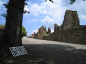 The entrance to Oradour-sur-Glane. This is a photograph which I took during a visit to the French village Oradour-sur-Glane on June 11 2004, exactly 60 years after its destruction by the German army during World War II.