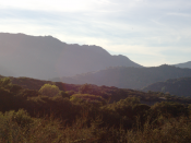 English: View of Topanga Canyon from one of the hiking trails.
