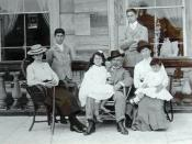 Marks and his family on a visit to England c1903. From left to right are Girlie 1889, Joe 1892, Dolly 1897, Sammy, Louis 1885, Bertha and Phil 1900. Ted 1894 is absent