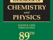 English: CRC Handbook of Chemistry and Physics, 89th Edition (Title) Deutsch: CRC Handbook of Chemistry and Physics, 89. Auflage (Titelblatt)