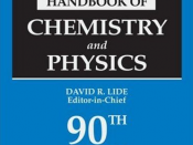 English: CRC Handbook of Chemistry and Physics, 90th Edition (Title) Deutsch: CRC Handbook of Chemistry and Physics, 90. Auflage (Titelblatt)