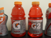 G Series introduced in 2010, from left to right: Gatorade Prime 01 (pre-game fuel) Perform 02: Gatorade Thirst Quencher (original Gatorade) Perform 02: G2 (low-calorie version of original Gatorade) Gatorade Recover 03 (post-workout Gatorade with additiona