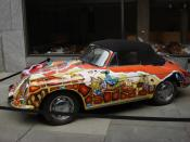 Janis Joplin's Porsche in Summer of Love - Art of the Psychedelic Era (Whitney Museum - New York)