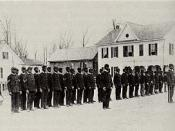 Students in military formation at Calhoun Colored School.
