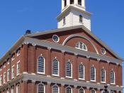 English: Faneuil Hall, Boston, Massachusetts Deutsch: Faneuil Hall, Boston (Massachusetts)
