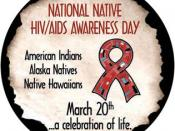 English: This is the official seal of the National Native HIV/AIDS Awareness day.