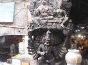 King Ravana shaking Mount Kailash