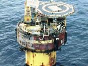 The Brent Spar oil storage buoy