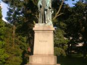 English: Lord Kelvin's statue in Botanic park, Belfast