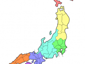 Blank map of Japanese Prefectures