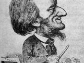 English: Cartoon of Richard Wagner with exaggerated 'Jewish' features