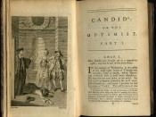 English: Frontispiece and first page of chapter one of an early English translation by T. Smollett et al of Voltaire's