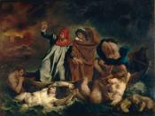 Painting of Dante's »Divine Comedy, Inferno«, 8. Singing