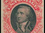 English: 1869 Washington 90-cent essay