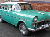 English: 1961–1962 Holden EK Special Station Sedan, photographed in Victoria, Australia.