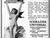 Images of pretty women often appear in ads even without connection to the product being sold. This provocatively clad woman lends