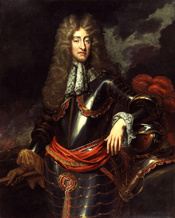 King James II. Purchased by NPG in 1873. See source website for more details. This set of images was gathered by User:Dcoetzee from the National Portrait Gallery, London website using a special tool. All images in this batch have an unknown author, but th