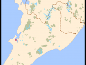 Mapa de Salvador (Bahia, Brazil) - Baixa do Petróleo