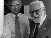 Sabin (right) with Robert C. Gallo, M.D circa 1985