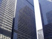 English: The distinctly black skyscrapers of the Toronto-Dominion Centre, designed by Mies van der Rohe. Tiếng Việt: Trung tâm Ngân hàng Toronto Dominion - Toronto, Canada.