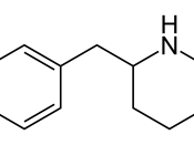 English: 2-Benzylpiperidine, a stimulant drug of the piperidine class.