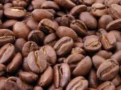 Roasted coffee beans Español: Granos de café tostado (natural). Bahasa Indonesia: Biji kopi alami yang telah disangrai.
