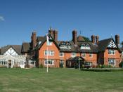 English: Rapkyns. This country house is now a care home run by Sussex Health Care. Photograph taken from footpath 2874.
