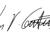 English: Signature of current US Representative for the 4th Congressional District of Illinois Luis V. Gutierrez