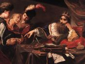 Vignon's Tribute of Croesus shows the influence of Caravaggio (Musée des Beaux-Arts, Tours)