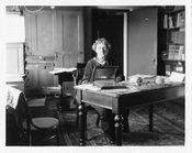 Annie Jump Cannon at her desk at the Harvard College Observatory